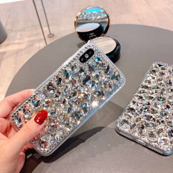LaMaDiaa For Samsung A3 A5 A7 J3 J5 J7 2016 2017 A8 2018 Luxury Glitter Back Cover Crystal Bling Diamond Rhinestone Phone Case