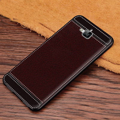 Leather Texture Soft TPU Cover Case For Huawei Y6Pro TIT-U02 Y6 Pro  TIT-AL00 TIT-L01 Honor 4C Pro TIT-AL00 TIT-L01 TIT-TL0 5 0