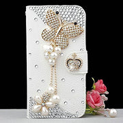 Luxury 3D Bling Crystal Rhinestone Wallet Leather Purse Flip Card Pouch Stand Cover Case For SamsungS3 S4 S5 S6E S7E S8P N3 N4 5
