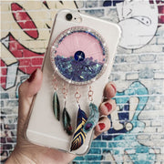 Luxury Bling Glitter Case For Wiko Lenny 5/Lenny5 5.7-inch Back Cover Cute Love Heart Soft Silicone Phone Cases Quicksand