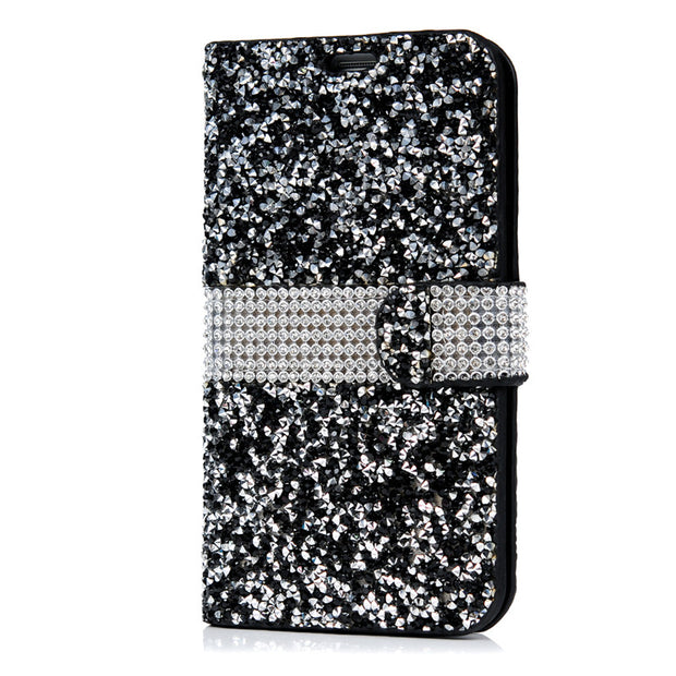 Luxury Diamond Leather Case Capa For Samsung Galaxy S7 Edge 5.5 Bling Glitter 3D Crystal Wallet Bag Funda Flip Stand Phone Cover