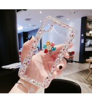 Luxury Fashion Funds Capa Bling Diamond Crown Rhinestone Clear Soft Case Cover For SamsungA3 A5 A7 J3 J5 J7 J4 J6 J8 Coque