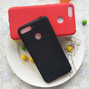 Macarons Color Silicone Frosted Matte Case For Huawei Honor 7A Pro High Quality Candy Full Cover Case For Huawei Honor 7A Pro