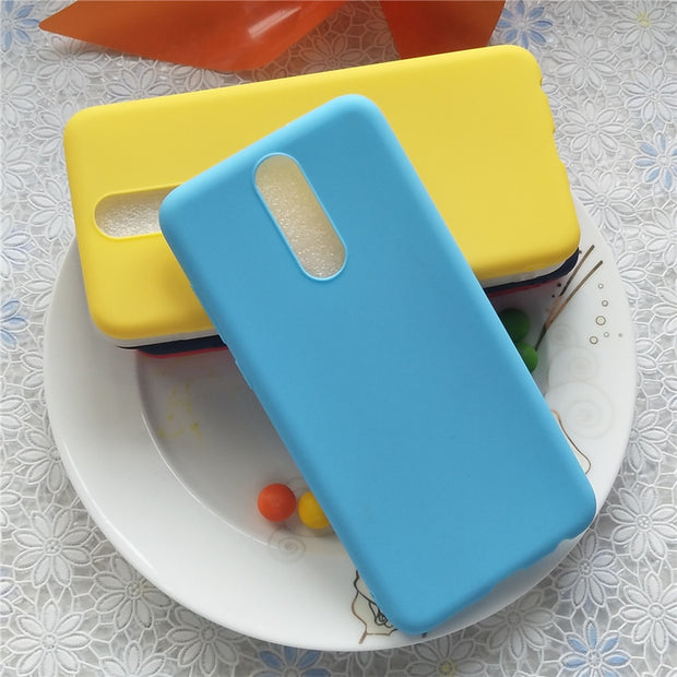 Macarons Color Silicone Frosted Matte Case For Huawei Honor 9i 5.9'' High Quality Candy Full Cover Case For Huawei Mate 10 Lite