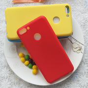 Macarons Color TPU Silicone Frosted Matte Case For Huawei Enjoy 7S / Nova Lite2 5.65 Inch Simple Solid Color Soft TPU Cases