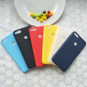 Macarons Color TPU Silicone Frosted Matte Case For Huawei Honor Y7 Prime 2018 Enjoy 8 Simple Solid Color Soft TPU Cases