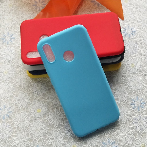 Macarons Color TPU Silicone Frosted Matte Case For Huawei Nova 3e Nova 3E 5.84'' Simple Solid Color Soft TPU Cases
