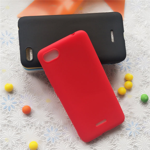 Macarons Color TPU Silicone Frosted Matte Case For Xiaomi Redmi 6A 5.45 Inch Simple Solid Color Soft TPU Cases