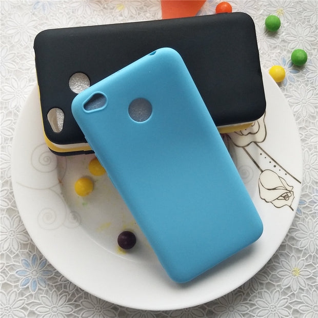 Macarons Color TPU Silicone Frosted Matte Case For Xiaomi Redmi 4x Simple Solid Color Soft TPU Cases For Xiaomi Redmi 4x