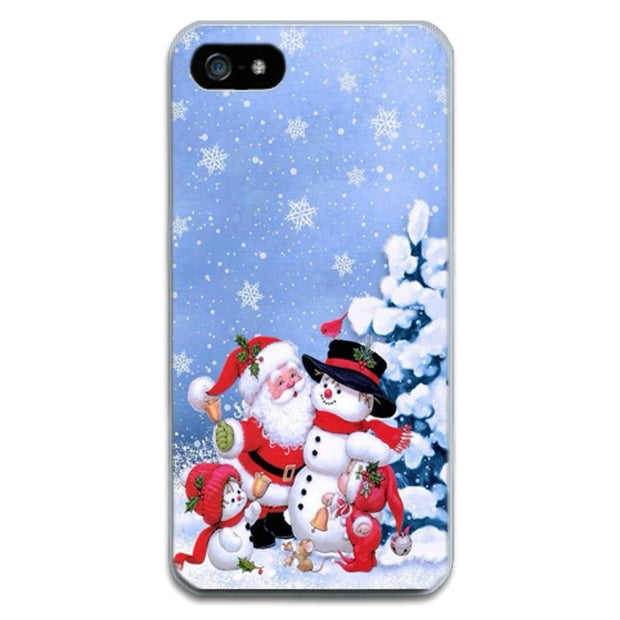Merry Christmas For Iphone 5 5S SE 6 6S 6 Plus 7 7 8 Plus Cases Santa Claus Christmas Phone Cases For Apple Iphone5S 6S XS XR X