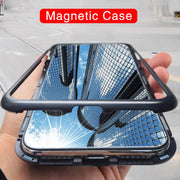 Metal Flip Case For Huawei Mate 10 Honor 10 Case Magnetic Adsorption Tempered Glass Back Cover For Mate 10 Honor 10 Coque