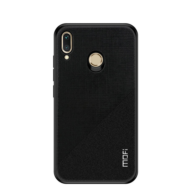 Mofi PC+Cloth Mixed Color Back Cover Huawei Honor Play Smartphone Soft Edge Case On For Huawei Honor Play Case Honor Play Bag