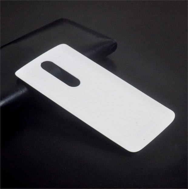 "New Back Battery Housing Cover For Motorola Moto X Force Xt1581 5.4"" Rear Cover Cell Phone Bags Case Black And White +1pcs Film"
