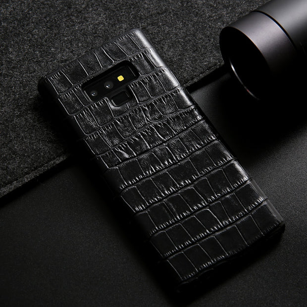 premium selection 0ca41 8eeab Note9 Luxury Genuine Leather Case For Samsung Galaxy Note 9 Case Crocodile  Cowhide Pattern Fashion Cover For Samsung Note 9 Case