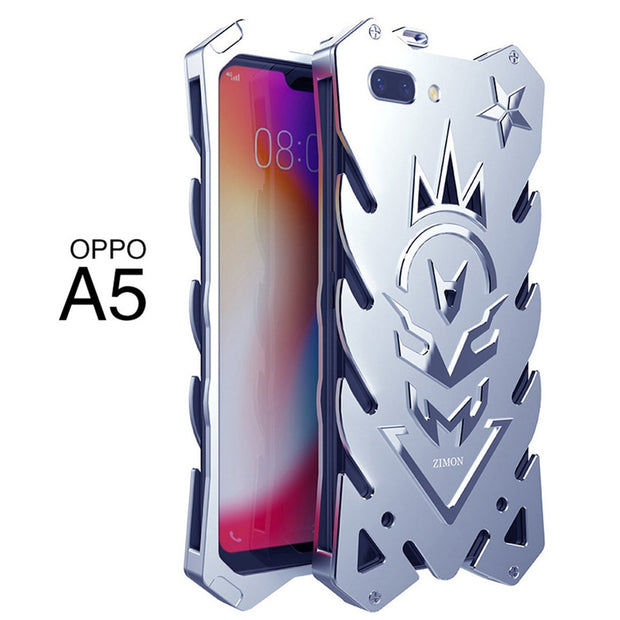 OPPO A5 Zimon Luxury New Thor Heavy Duty Armor Metal Aluminum Phone Case For OPPO A5 Case 5.5""