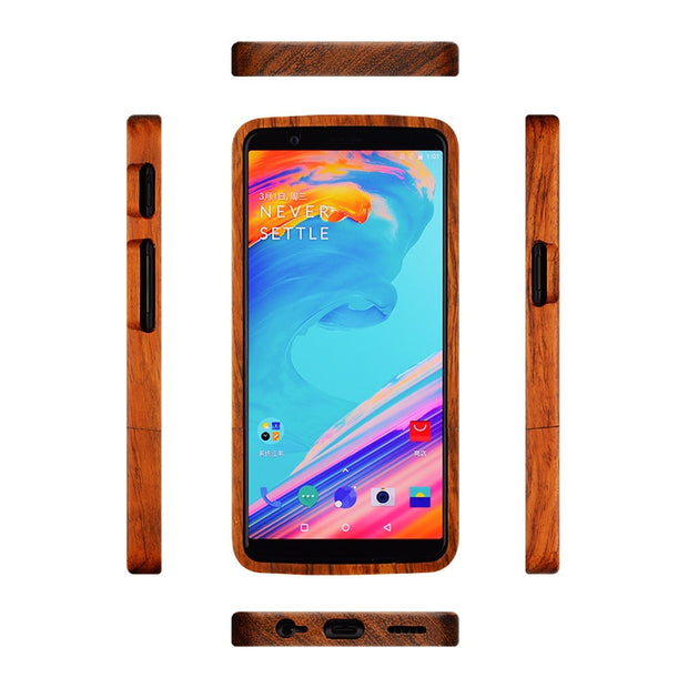Oneplus 5t Case Oneplus-5t Wood Case One Plus 5t Natural Wooden Cover DIY Carved Pattern Funda Full Protective Capa