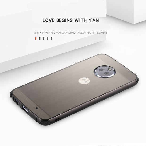 Original Case For Motorola Moto G6 PLUS Cover Shockproof Metal Aluminum Frame Ultra Thin Plastic Cover For Moto X4 Moto G6 Case