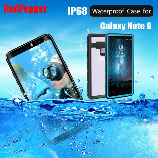 huge selection of cc29d 379bd Original RedPepper Dot Series IP68 Waterproof Case For Samsung Galaxy Note  9 Diving Underwater PC + TPU Armor Cover SN93