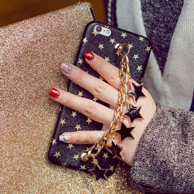 Phone Cases For IPhone X XS MAX XR Bling Luxury Rhinestone Chain Girls Cover Back Tassel Case For IPhone 6 6S 6SPlus 7 8 Plus