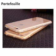 Portefeuille For Coque IPhone 5 5S SE Paillettes Silicone IPhone5s Case Cover Luxury Rhinestone Phone 7 8 X Accessories Capinha