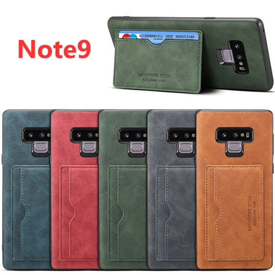 Retro PU Leather Cover For Samsung Galaxy Note9 Case Luxury Wallet Card Slots Stand Holder Back Cover For Samsung Note 9 Coques