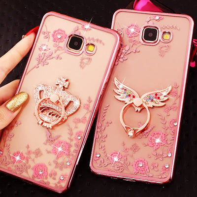 Rhinestone Case For Samsung Galaxy J2 Prime J5 J7 Cover Soft TPU Glitter Luxury Bling Case For Samsung Galaxy A5 2017 A7 A3 2016