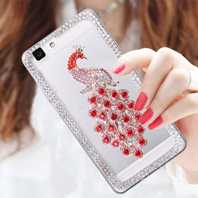 Rhinestone Case For IPhone 7 Plus 6S 6 5S Hard Glitter Diamond Transparent Cover For IPhone7 Iphone6 Capa Phone Bag Coque Luxury