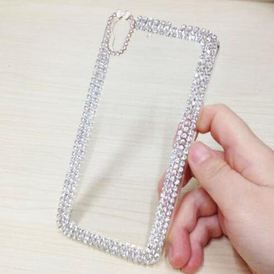 Rhinestone Cover For Huawei Y6 Y6 II Honor 4A 5A Cases Crystal Clear Back Plastic Protection For Huawei G620S Fundas Phone Cover