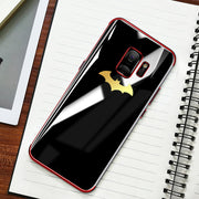 S9 Plating Batman Phone Case For Samsung S8 S9 Plus S7 Edge S6 Edge Note 9 8 Plating TPU Soft Back Cover For IPhone XS Max XR XS