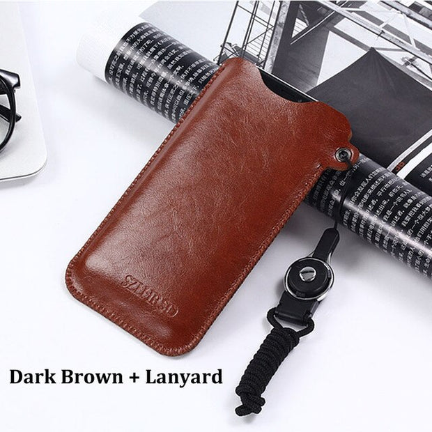 Dark brown Lanyard