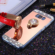 Shiny Crystal Mirror Phone Case Cover For Samsung Galaxy Note 9 8 Case S8 S9 J4 J6 J8 A6 A8 2018 J1 J2 J3 J5 J7 Prime 2016 2017
