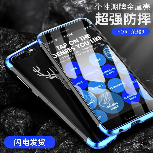 Showkoo Newest Smartphone Case For Huawei Honor 9 Cover 3 In 1 Metal Aluminum+PC Back 360 Full Protect Shockproof For Honor 9