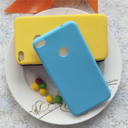 Simple Solid Color Back Cover For Huawei Honor8 Lite 5.2 '' Macarons Color Silicone Frosted Matte Case For Huawei P9Lite 2017
