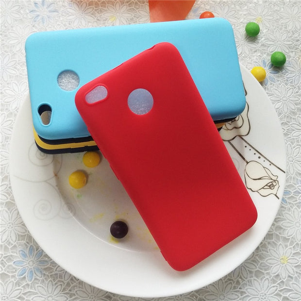 Simple Solid Color Cases For Xiaomi Redmi 4A 5A 6A 4X Macarons Color TPU Silicone Frosted Matte Case ForXiaomi Redmi 4A 5A 6A