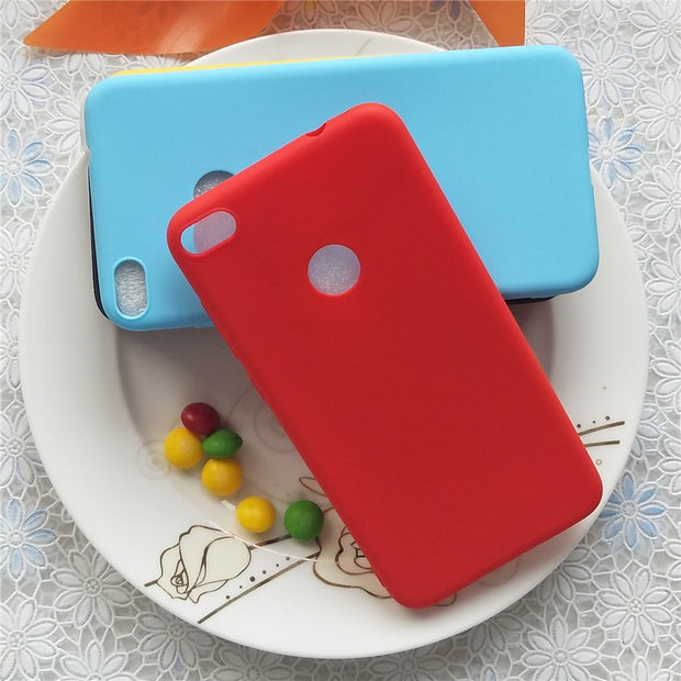 Simple Solid Color Soft TPU Cases For Huawei P9 Lite 2017 Macarons Color TPU Silicone Frosted Matte Case For Huawei P8Lite 2017