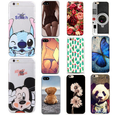 Soft TPU FOR Coque IPhone 5 5S SE 6 6S 7 8 Plus Case Cover FOR Capa IPhone 7 Case FOR Fund IPhone 6 S Case FOR IPhone 8