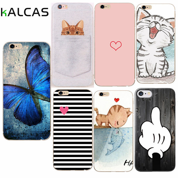 Soft TPU Case For Iphone 7 Case Fashion Ultra-thin Silicone Phone Cases For Iphone 6 6S 7 8 Plus 5 5S SE X XR Xs Max Case Capa