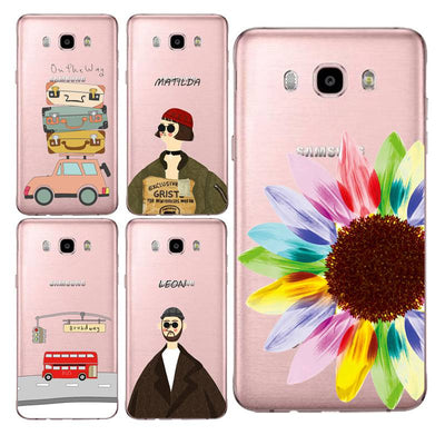 Sunflower Soft Clear TPU Phone Case For Samsung J3 J5 J7 S6 S7 S8 Note8 A3 A5 C7 J2prime Milk Printed Fundas Cover Free Shipping