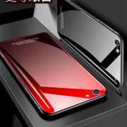 Tempered Glass+Silicone Edge Case For Apple IPhone 8 Plus Phone Shell Cover For IPhone 7 Plus+Tempered Glass Screen Protector