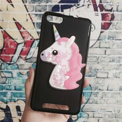 Unicorn Glitter Liquid Case For Wiko Jerry / Lenny 3 / K-kool Cover Dynamic Cute Cartoon OWL Dreamcatcher Soft TPU Phone Funda