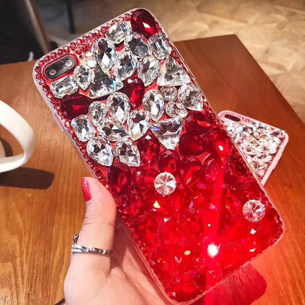 XINGDUO For Iphone X Clear Case Bling Diamond Women Gift Moble Phone Case For Iphone XS/XR/XR MAX/5/6/6S/7/8/7 Plus/8 Plus