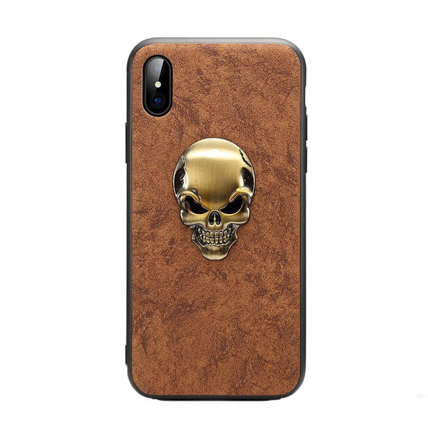 Brown gold skull
