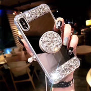 XS Max Pop Air Stand Phone Case For IPhone XS Max XR IPhone X 6 7 8 Plus Sparkle Bling Diamond Pop Stand Mirror Rhinestone Cover