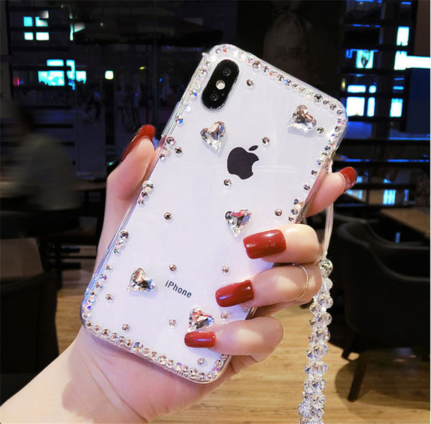 XSMYiss 3D Luxury Bling Crystal Rhinestone Cases For Samsung Galaxy A3 A5 A7 J3 J5 J7 2016 2017 Diamond Case Cover