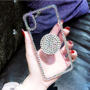 XSMYiss Balloon Stent Rhinestone Shell Cell Phone Case For Samsung S5 S6 S7 Edge S8 Plus Note3 N4 N5 Soft Tpu Back Cover
