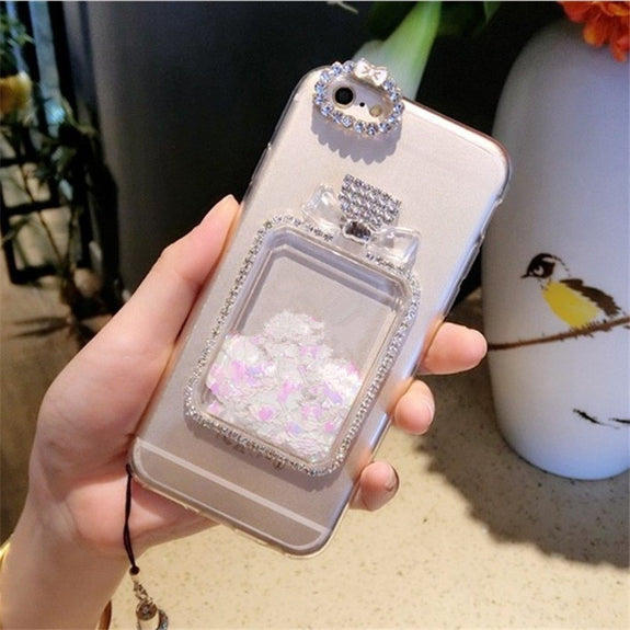 Xsmyiss For Samsung A3 A5 A7 J3 J5 J7 2016 2017 Girls Rhinestone Diamond Bling Liquid Sand Quicksand Soft Phone Case Rhinestone Cases