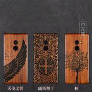 Xiomi Mi Mix 2 Case Mix2 Cover TPU Carved Rose Wood Case Coque Boogic Original Xiaomi Mi Mix 2 Wooden Phone Cases