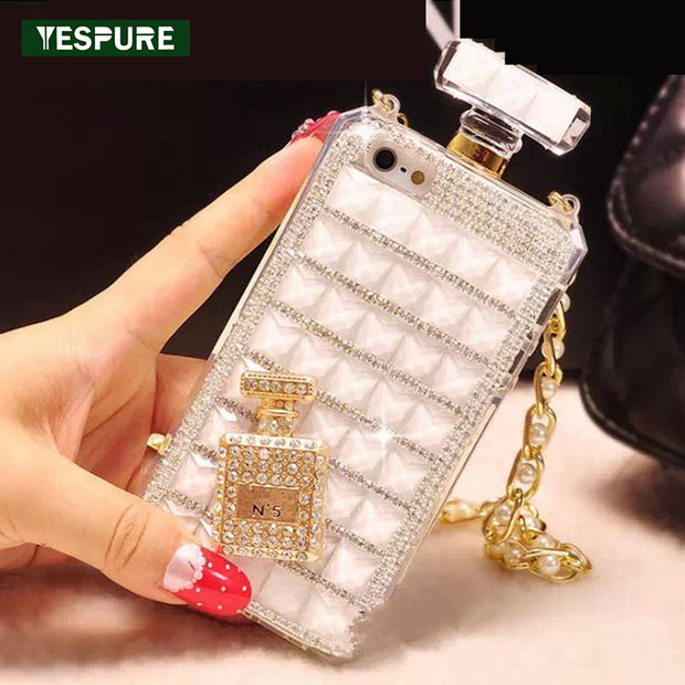 YESPURE Fancy Fancy Cell Phone Cases For Iphone 7 Diamond Perfume Bottle Phone Accessories Anti Gravity Lady Luxury Women Case