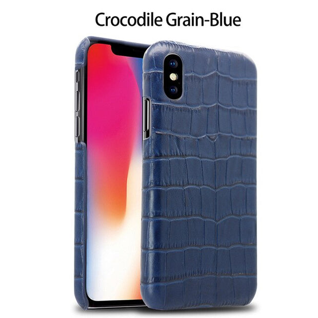 Crocodile Grain-Blue