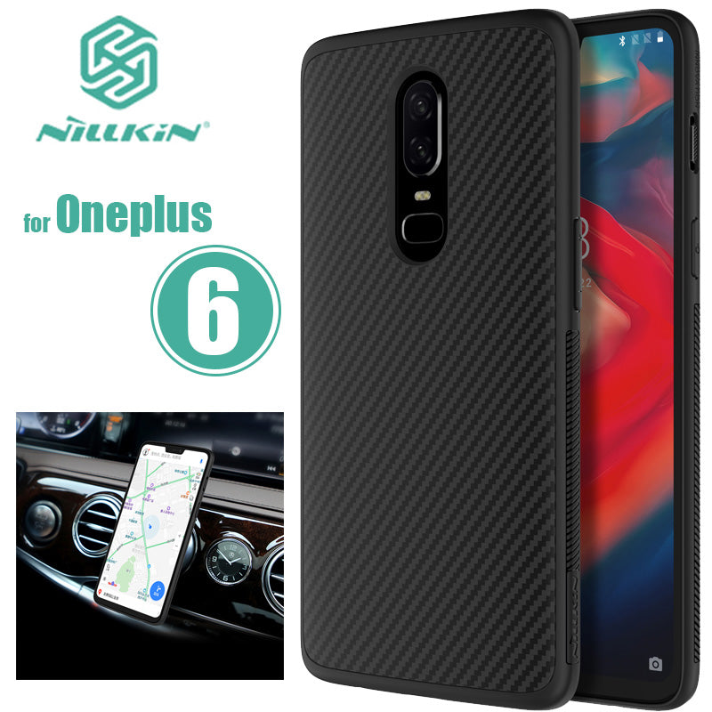 more photos f850f b6f37 For Oneplus 6 Nillkin Synthetic Fiber Oneplus6 Hard Back Cover Case One  Plus 6 Phone Case Iron Sheet For Oneplus 6 Nilkin Case
